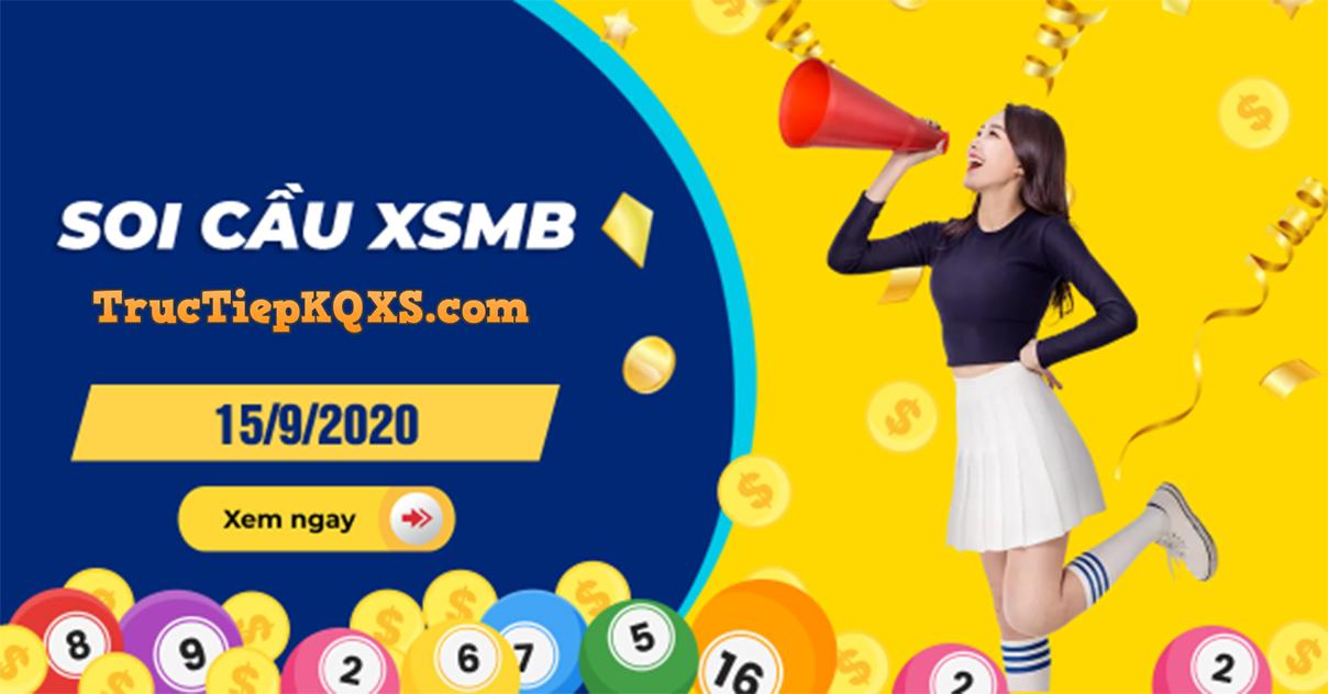 Soi cầu xsmb, dự đoán kqxs miền Bắc ngày 15/9/2020